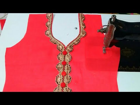 Very beautiful and latest neckline design (easy way) for beginners