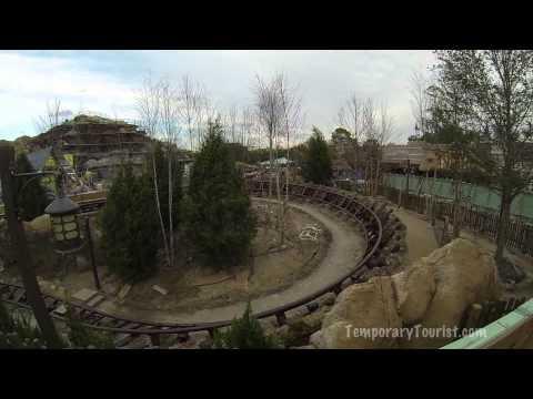 Snow White Seven Dwarfs Mine Train Roller Coaster Ride Over The Wall Update - 01/13/14