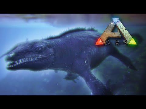 Taming & Surviving a HUGE Mosasaur!! - Ark Survival    Ep22