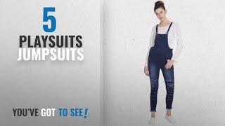 Top 10 Playsuits Jumpsuits [2018]: Broadstar Women Denim Blue Dungarees