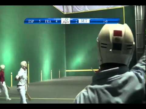 Mondial Pelote Basque Mexique 2014 - Pala Corta - France contre Espagne
