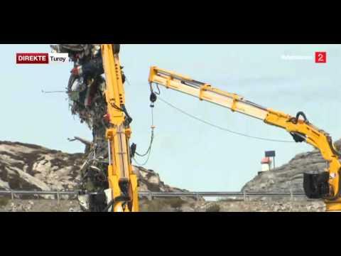 Norwegian Super Puma recovered from crash site