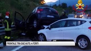 TG VICENZA (23/07/2018) - FRONTALE TRA DUE AUTO, 4 FERITI