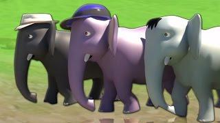 Ek Mota Hathi | 3D Rhyme In Hindi | एक मोटा हाथी | Hindi Rhyme | Kids Tv India | Hindi Nursery Rhyme