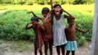 Village Children Making Faces