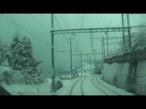 Winter Impressionen Einer Bahnfahrt