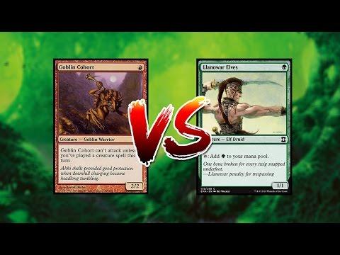 MTG - Goblins vs Elfos Gameplay Físico Pauper