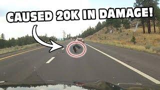Watch A Tire Retread Attack A Caravan Of Exotic Cars