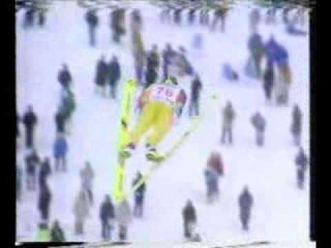 Noriaki Kasai - 135m - Sapporo 1994 AMAZING JUMP!!!