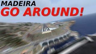 [FSX] Madeira GO AROUND + LANDING (VERY STRONG WINDS)