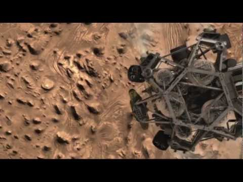 The Curiosity Rover Landing