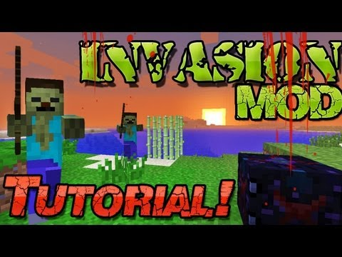 Minecraft 1.6.2 INVASION Mod =O - Tower Defense in Minecraft! - Deutsch German Mac + Windows