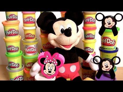 Play Doh Mickey & Minnie Stamp & Cut Mickey Mouse Clubhouse Disney Junio