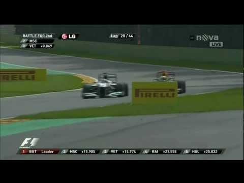 Michael Schumacher vs. Sebastian Vettel Belgian GP 2012
