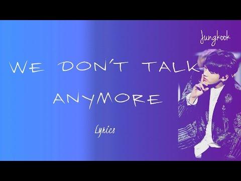 BTS Jungkook - 'We Don't Talk Anymore' (Cover) [Eng lyrics]