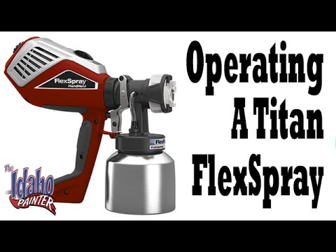 How To Operate The Titan FlexSpray Paint Sprayer.  Titan Flexspray Tutorials.