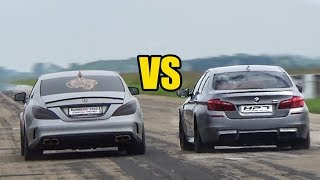 Mercedes CLS 63 AMG vs BMW M5 F10 - DRAG RACE!