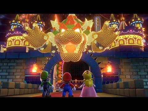 Super Mario 3D World - All Final Castles (3 Player)