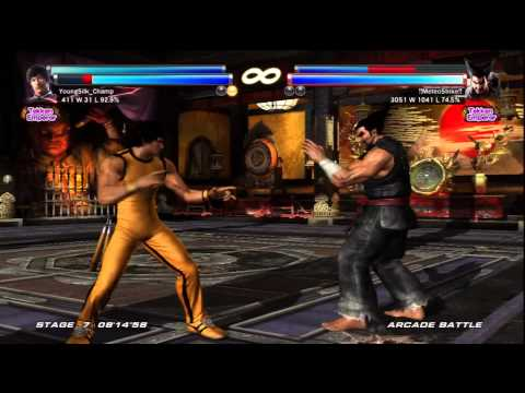 Tekken Tag Tournament 2 Forest Law Marshall Law Arcade Run GAME OF DEATH