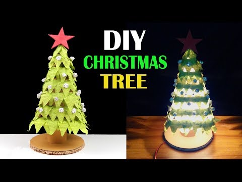 How to make a Christmas Tree Night Lamp Decoration - Xmas Tree DIY Tutorial