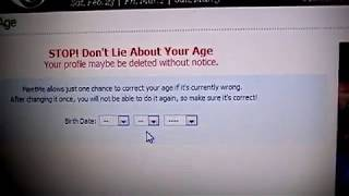 Don't Lie about you age on meetme.com