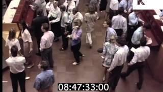 1980s European Stock Exchange, Bankers, Yuppies, Mobile Phones