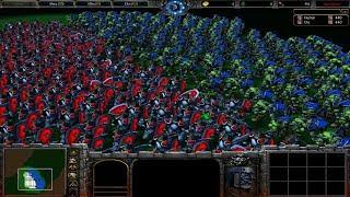 1000 Footman vs 1000 Grunt - Warcraft 3