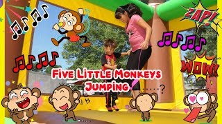 🙊🙈FIVE LITTLE MONKEYS JUMPING ON THE BED,  Children Nursery Rhyme Songs