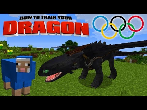 Minecraft - HOW TO TRAIN YOUR DRAGON - Dragon Olympics # 2 'Sheep Game'