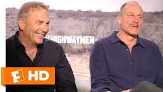 Kevin Costner & Woody Harrelson Discuss the Bonnie & Clyde Shootout | 'The Highwaymen' Interview