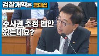 2018 국정감사 현장 #3 - 검경수사권 조정안이 없는데요? (법제처)
