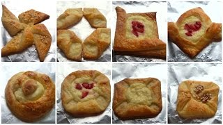 Danish Pastry Shapes - How to Shape Danish Pastries - Fatemahisokay