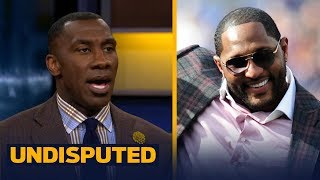Shannon Sharpe reacts to Ray Lewis' 'I wasn't protesting, I was praising God' comment |  UNDISPUTED