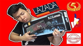 Zeus M-710 Gaming Keyboard and Mouse Bundle from Lazada (Unboxing and Review Tagalog)