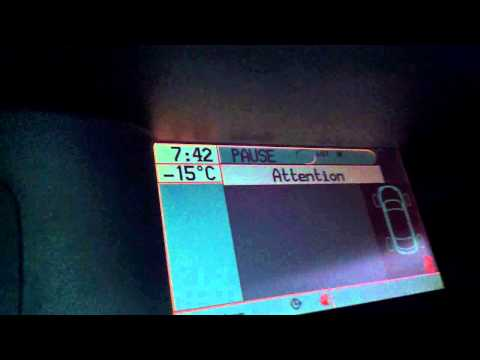 Renault Laguna II 1.9 dci cold start -15   Renault Laguna II 1.9 dci zimne odpalanie -15