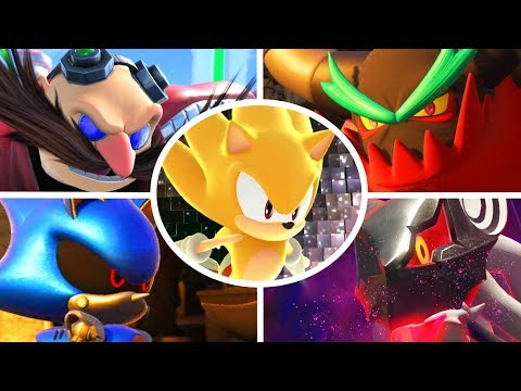 Sonic Forces - All Bosses with Super Sonic