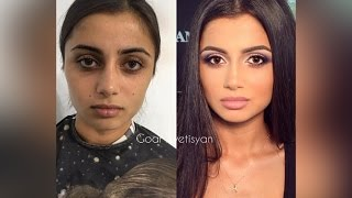Goar Avetisyan: Before and After makeup transformation