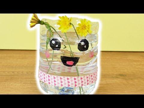 09:57 Sommerdeko Selber Machen Fürs Zimmer | Blumenvase Mit Süßem Kawaii  Gesicht | Geschenkidee DIY Ideen