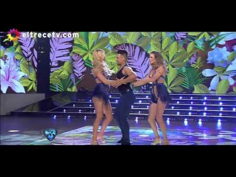 Nicole Neumann bailó con su hermana Geraldine en ShowMatch