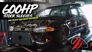 1000HP AWD Civic Gets a Motor and 600HP Stock Sleeve GSR Makes Some Jam