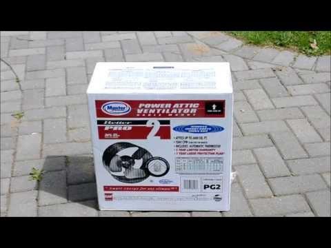 Master Flow Power Attic Ventilator Fan (Gable Mount) Installation & Review
