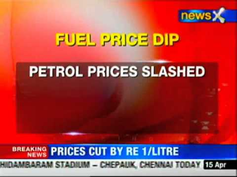 Petrol prices cut by Rs 1 per litre
