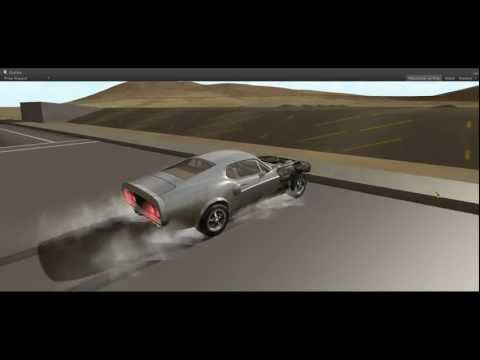DRIV3R - Unity3D - Mustang : separation of some bodywork panels