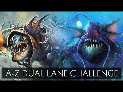 Dota 2 A-Z Dual Lane Challenge - Slardar and Slark