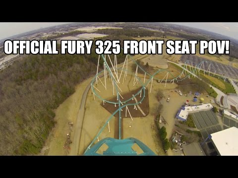 Fury 325 Roller Coaster REAL POV Carowinds 2015 Worlds Tallest Giga Coaster
