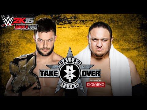 WWE 2K16 - NXT TAKE OVER DALLAS: Finn Bàlor vs Samoa Joe