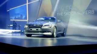 New Skoda Superb 2015 - live reveal in Prague