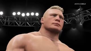 WWE 2K17 gold berg vs broke lesner