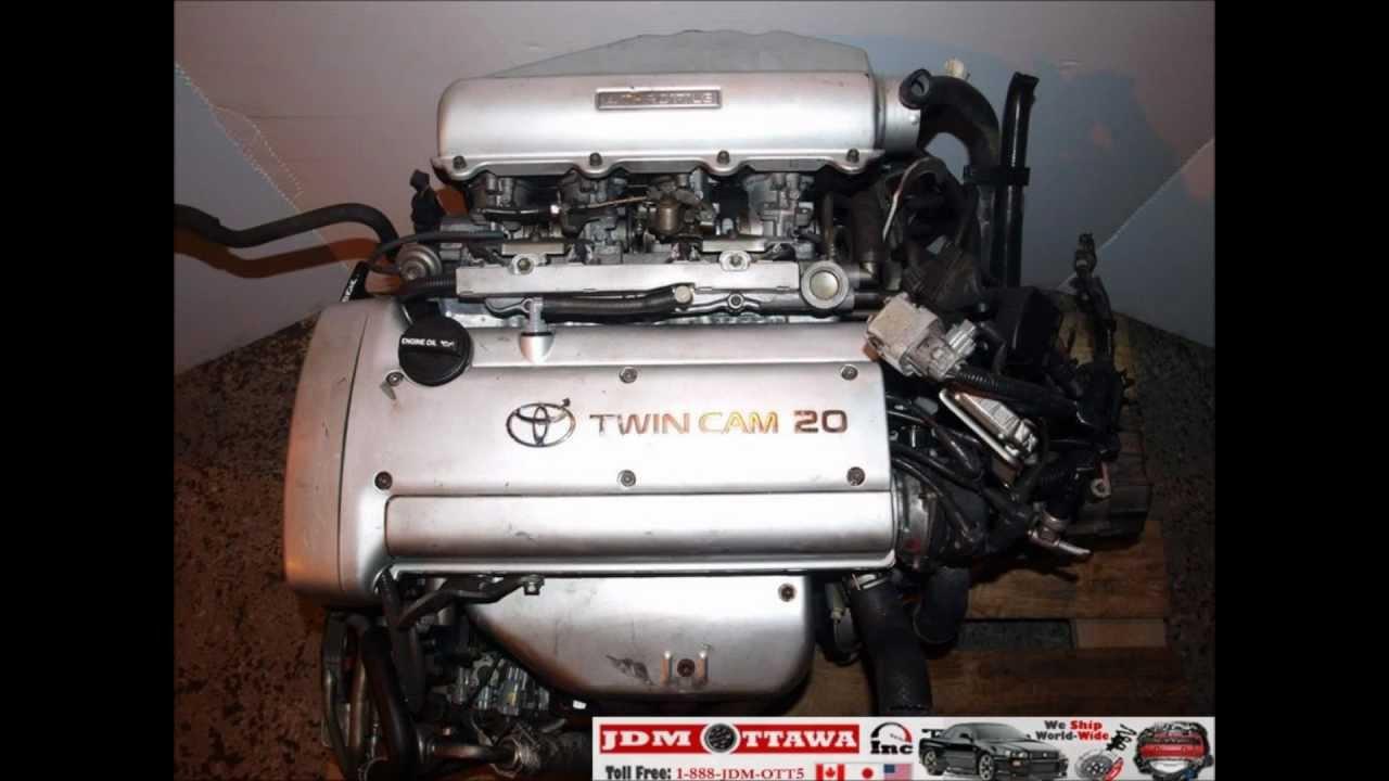 92 95 jdm toyota 4age 1 6l 20 valve silver top engine 5spd trans ecu   youtube
