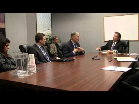 Gov. Jay Inslee talks with editorial board